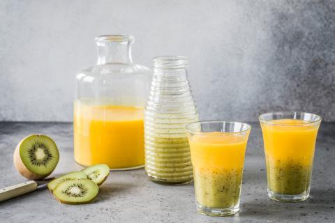 Smoothie kiwi-mangue