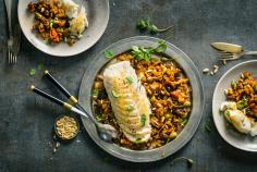 Cod fillet with caponata