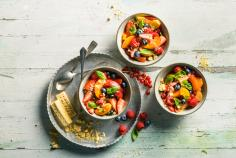 Marinated summer fruits