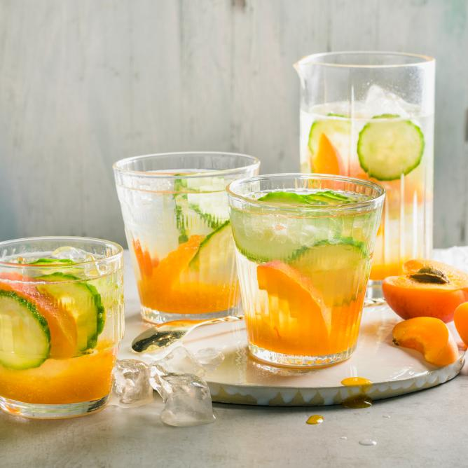 Summer drink with apricots