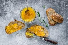 Mirabelle plum and rosemary jam