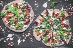 Autumn pizza with figs