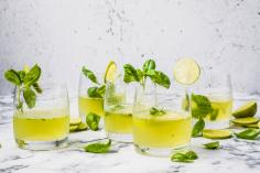 Swiss basil smash
