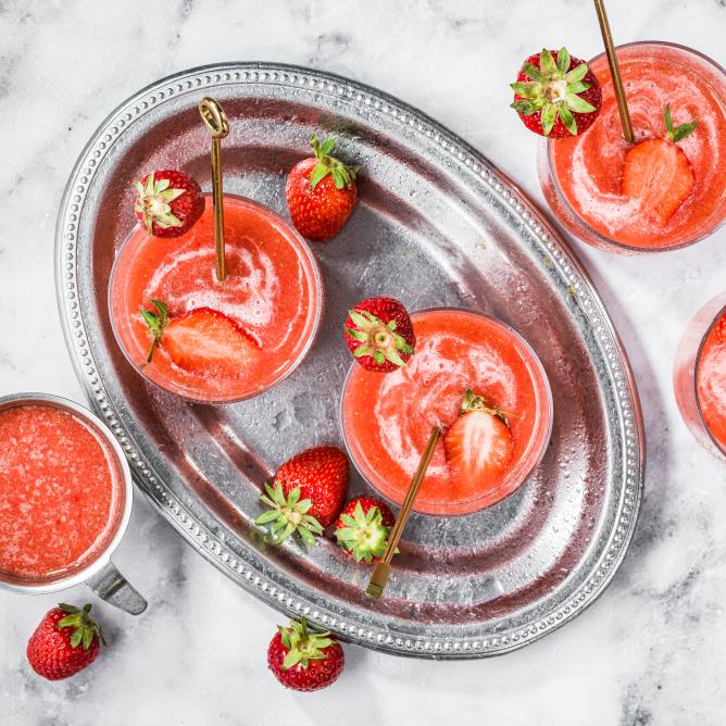 Creamy Strawberry Cocktail