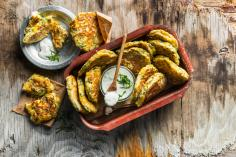 Sweetcorn and courgette patties