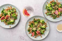 Lentil salad with kale and blood orange