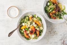Feta couscous with peach