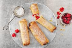 Raspberry and almond sticks
