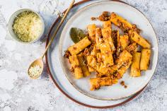 Pasta with cauliflower bolognese
