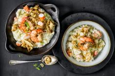 Risotto with prawns and fennel