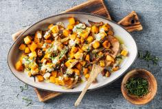 Warm squash salad with yoghurt dressing