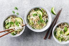 Rice noodle bowl