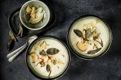 Apple and fennel soup with sage