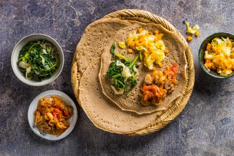 Injera - Ethiopian sourdough flatbread