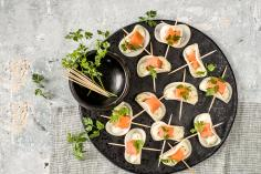 Radish snacks with salmon