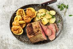 Roastbeef mit Yorkshire Puddings