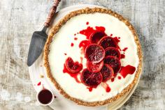 Blood orange and yoghurt tart