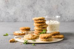 Bacon and parmesan shortbreads