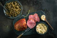 Smoked ham with ginger & mustard sauce