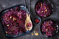 Red cabbage and beetroot salad