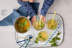 Refreshing herb iced tea