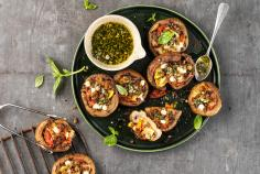 Stuffed mushrooms (caprese)