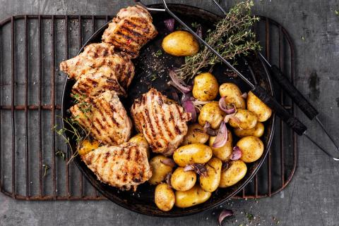 Chicken steaks with Jamaica marinade