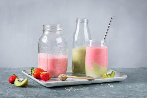 Smoothie au kiwi et aux fraises