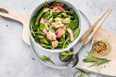 Chicken and rhubarb salad