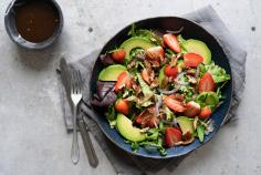 Strawberry and balsamic salad with nuts