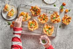 Children's birthday pizza muffins
