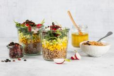Colourful buckwheat salad