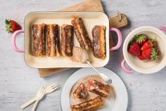French toast rolls with strawberries