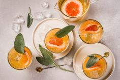 Citrus and ginger mocktail
