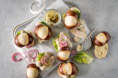 Sandwichs à la saucisse blanche