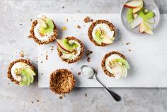 Granola cups with fruit