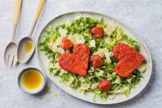 Polenta hearts with curly endive salad