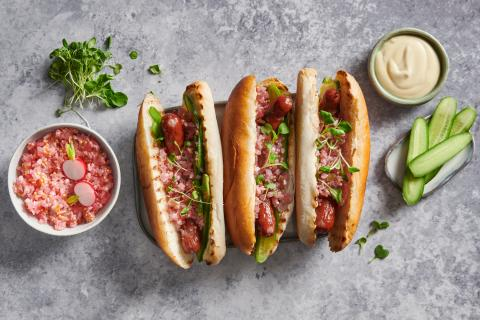 Hot Dog mit Radiesli-Relish