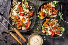 Grilled vegetable tonnato