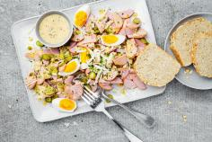 Special Sausage Salad with Rolled Oat Bread