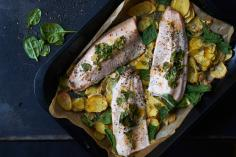 Salmon Trout Fillet with Potatoes