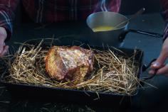 Veal cooked in hay