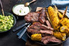 Spicy Beef Entrecote with Corn on the Cob