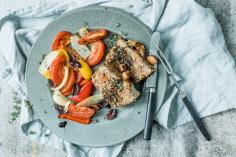 Summer Meat Loaf with Roasted Vegetables