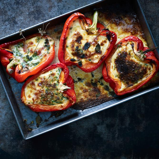 Grilled Bacon Stuffed Peppers