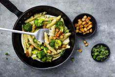 Poppy Seed Potato Dumplings with Broccoli
