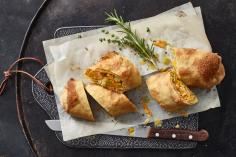 Root Vegetable Strudel with Herb Oil