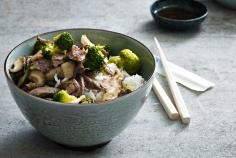 Beef with Broccoli & Mushrooms