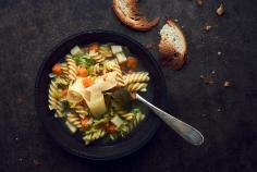 Buuretopf (pasta & vegetable soup)