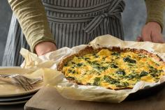 Tofu and spinach quiche
